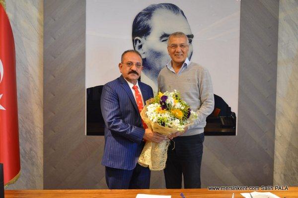 ASKON Mersin Şube Başkanı Hasan Arslan Neşet Tarhan ve M.Mustafa Gültak'ı Ziyaret Etti