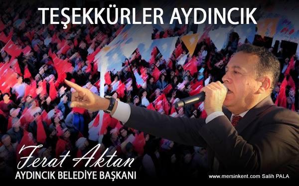 Aydıncık Belediye Başkanı Ferat Aktan Güven Tazeledi
