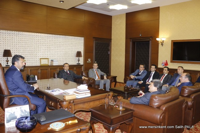 Baro Başkanı Yeşilboğaz'a Mersin Cumhuriyet Başsavcısı Ercan ve Bakanlık Müfettişlerinin  Ziyareti