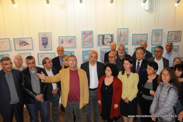 Duvarları Aşan Çizgiler Karikatür Sergisi Mersinli Sanatseverlerle Buluştu