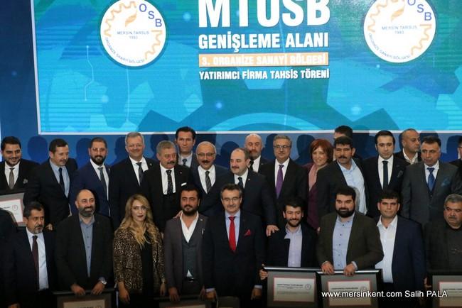 Mersin Tarsus Organize Sanayi Bölgesi Yeni Yer Tahsisleri Dağıtıldı