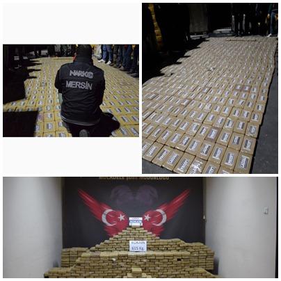 Mersin'de Bir Tona Yakın Kokain Ele Geçirildi