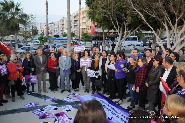 Mersin'de Kadınlar Haykırdı, Kadınlara Yönelik Şiddete Karşı Mücadelemiz Sonuna Kadar