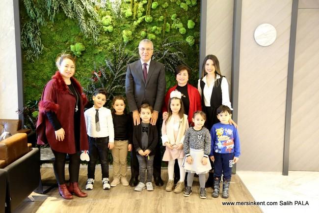 Miniklerden Başkan Tarhan'a  Ziyaret