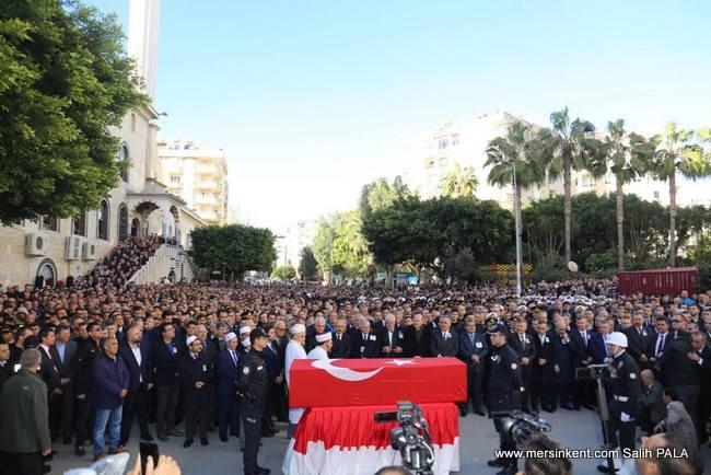 ŞEHİT EMNİYET MÜDÜRÜ ALTUĞ VERDİ, MERSİN'DE SONSUZLUĞA UĞURLANDI