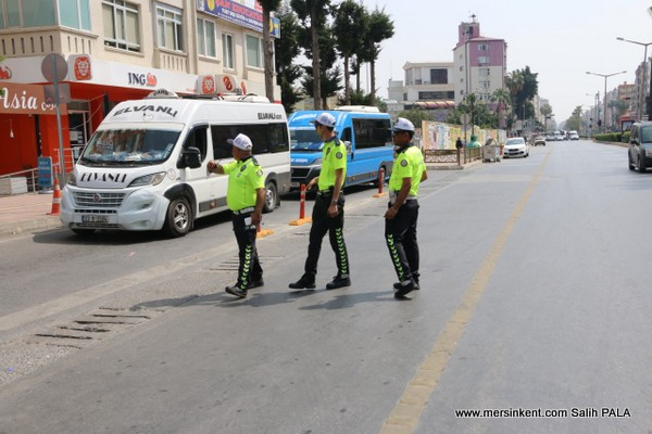 Mersin'de Toplu Taşıma Araçlarına Denetim