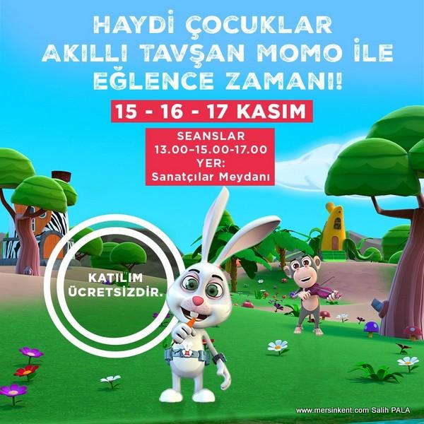 Akıllı Tavşan Momo Forum Mersin'de