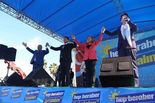 Akşener ve Uysal,  Mersin'de Ayfer Yılmaz İçin Oy İstedi