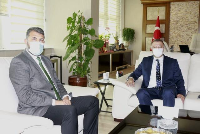 BARO BAŞKANI YEŞİLBOĞAZ, CUMHURİYET BAŞSAVCISI ÖZTOPRAK'I ZİYARET ETTİ