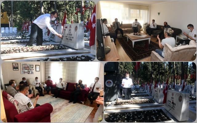 Başkan Özyiğit, Şehitlik ve Şehit Ailelerini Ziyaret Etti