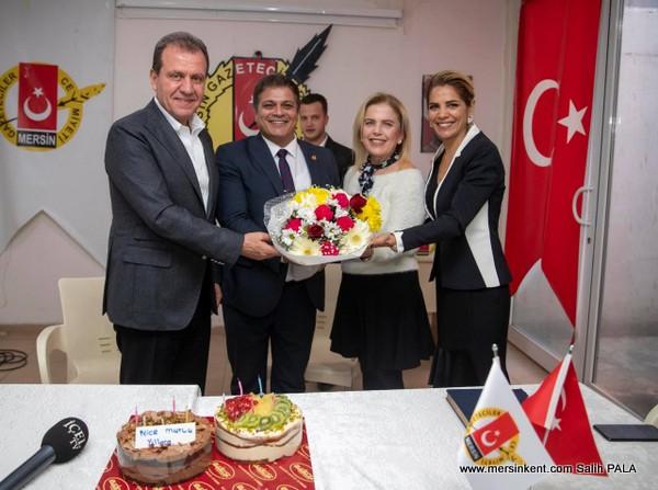 BAŞKAN SEÇER, MGC BAŞKANI KAYA TEPE'Yİ ZİYARET ETTİ