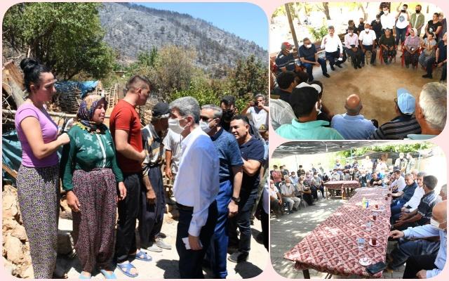 İçişleri Bakan Yardımcısı İnce, Yangın Yerinde Vatandaşlarla Bir Araya Geldi