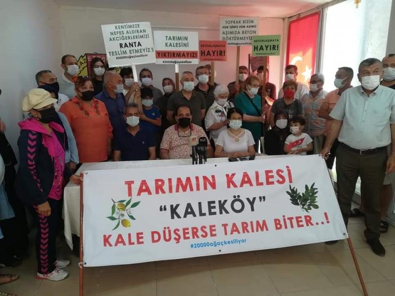 Kaleköy Tarım Arazilerine Galericiler Sitesi İstemiyor