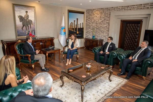 KKTC Mersin Başkonsolosu Mendeli Başkan Seçer', Ziyaret Etti