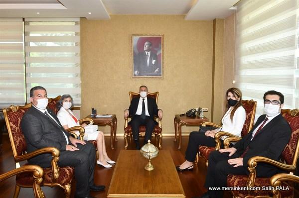 KKTC Mersin Başkonsolosu Mendeli'den Vali Su'ya Ziyaret