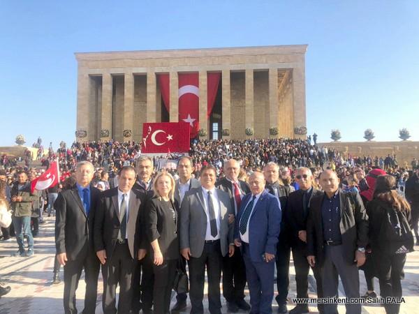 Mersin Gazeteciler Cemiyeti Ata'nın Huzurunda