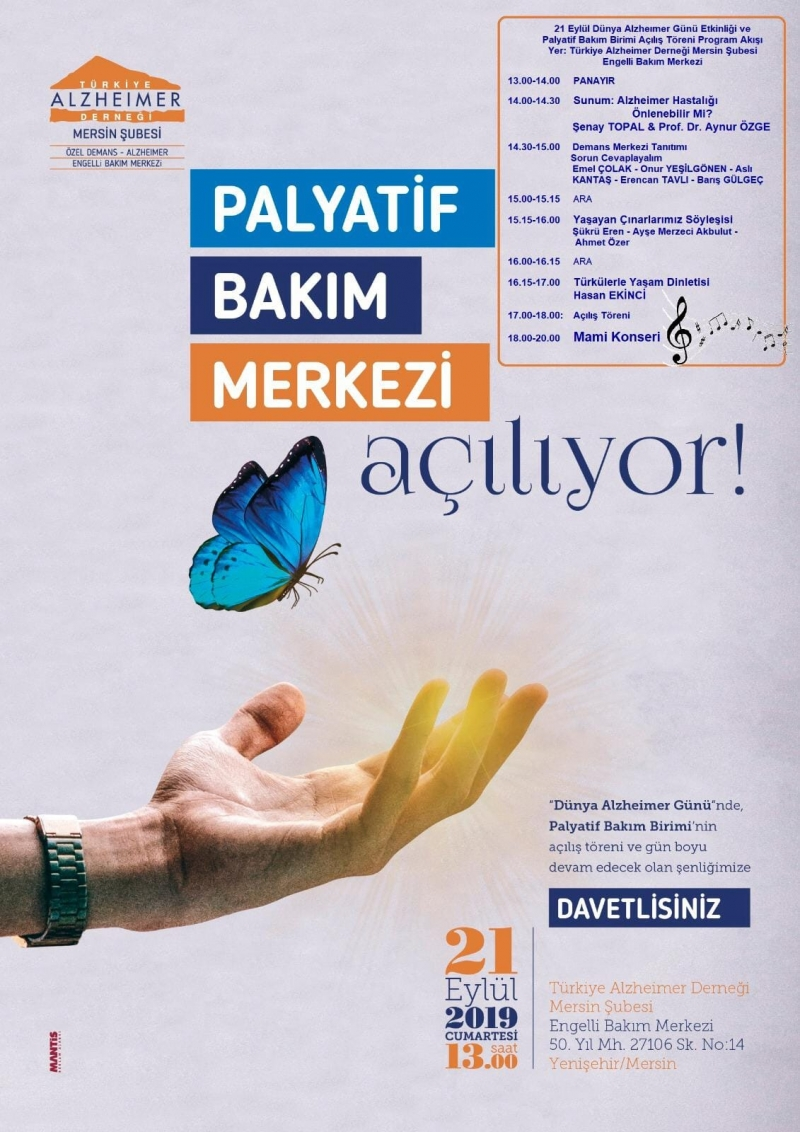 Mersin'de 21 Eylül Dünya Alzheimer Günü'nde Palyatif Bakım Merkezi Açılıyor