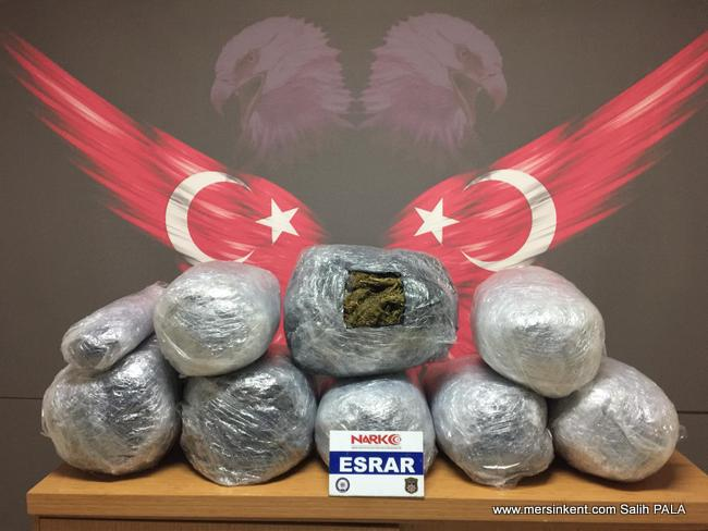 Mersin'de 44 Kilo Esrar Yakalandı