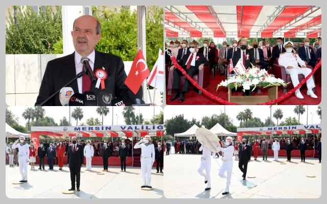 Mersin'de Barış Harekatı'nın 47. Yılı KKTC Cumhurbaşkanı Tatar'ın Katılımıyla Kutlandı