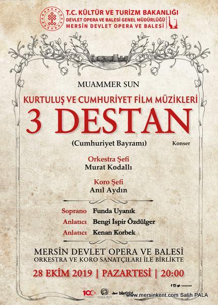 Mersin'de Üç Destan Konseri