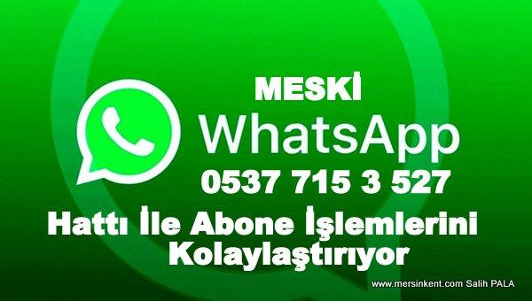 MESKİ'den WhatsApp Hattı İle Abone İşlerini Kolaylaştırıyor