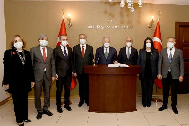 Son Başbakan Yıldırım ile Hazine ve Maliye Bakanı Elvan Vali Su'yu Ziyaret Etti