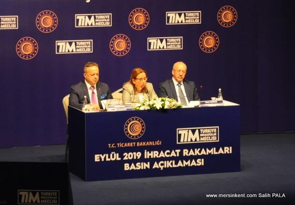 Ticaret Bakanı Ruhsar Pekcan  İhracat Rakamlarını Açıkladı