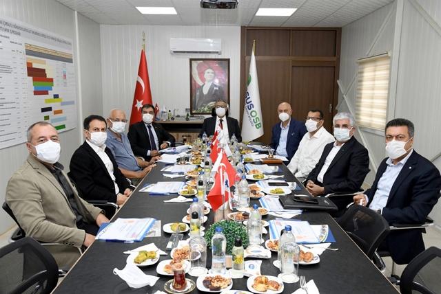 Vali Su, Tarsus OSB Yönetim Kurulu ve Müteşebbis Heyet Toplantısına Başkanlık Etti