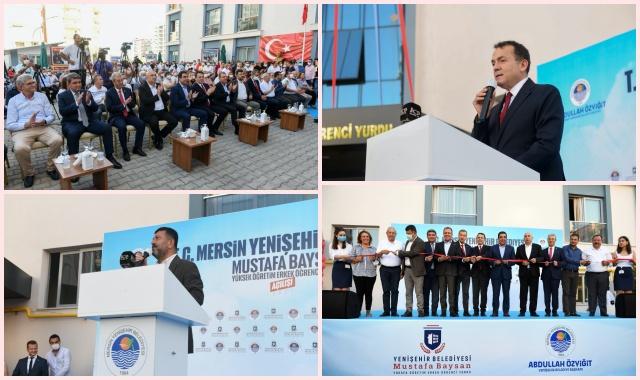 Yenişehir Belediyesi Mustafa Baysan Erkek Öğrenci Yurdunu Törenle Açıldı