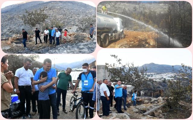 Yenişehir Belediyesi Tüm İmkânlarıyla Yangın Bölgesinde