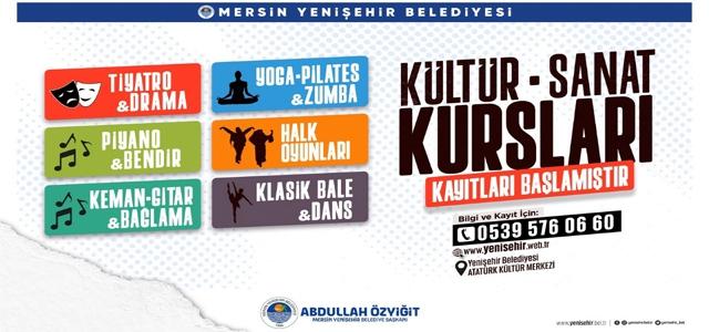 Yenişehir'de Kültür Sanat Kurslarına Kayıtlar Başladı