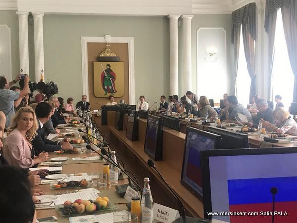 Başkan Tarhan, Antik Kentler Forumu için Rusya'da