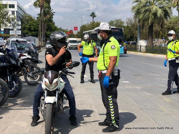 Mersin'de Emniyetin Motosiklet Denetimleri